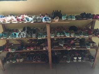 Shoes for children at Hameau Orphanage