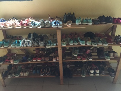 Shoes for children at Hameau Orphanage
