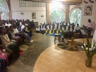 Sunday church services in Musha, Rwanda