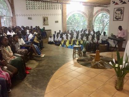 Sunday church services in Musha, Rwanda