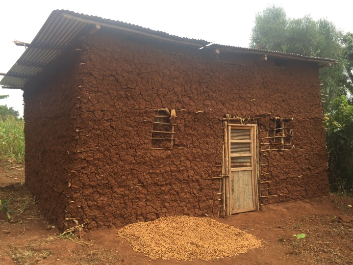 Typical house near ETSK school - Mud with required tin roof