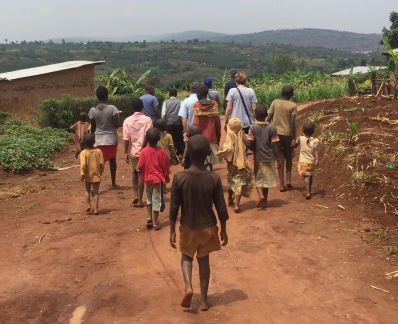 On the road above ETSK school in Musha, Rwanda